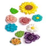 꽃 10종 수제 데코몰드 (m73)